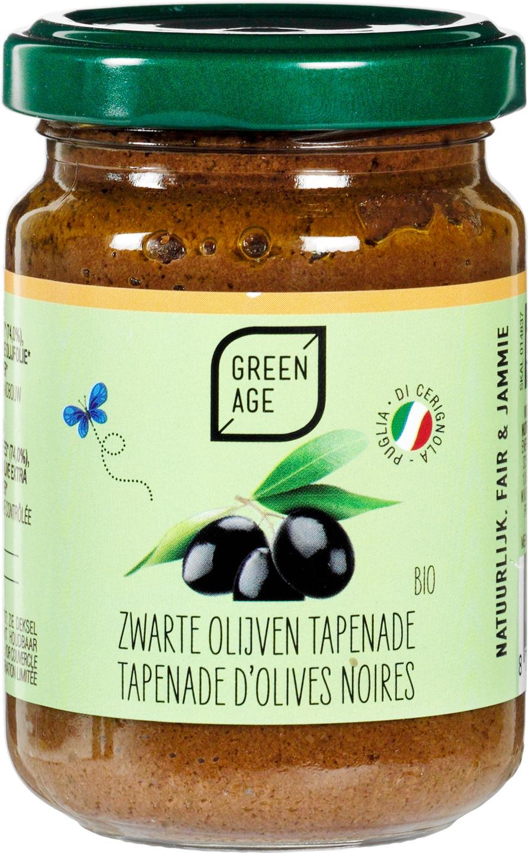 Biologische GreenAge Zwarte olijventapenade 140 gr