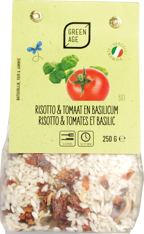 Biologische GreenAge Risotto tomaat basilicum 250 gr