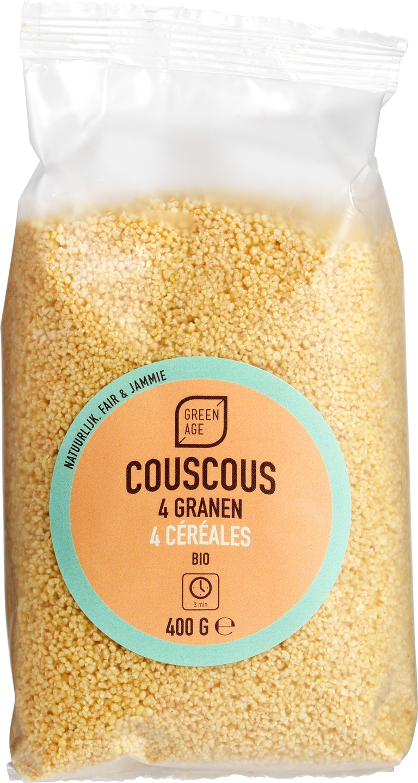 Biologische GreenAge Couscous 4 granen 400 gr