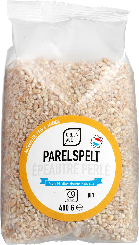 Biologische GreenAge Parelspelt 400 gr