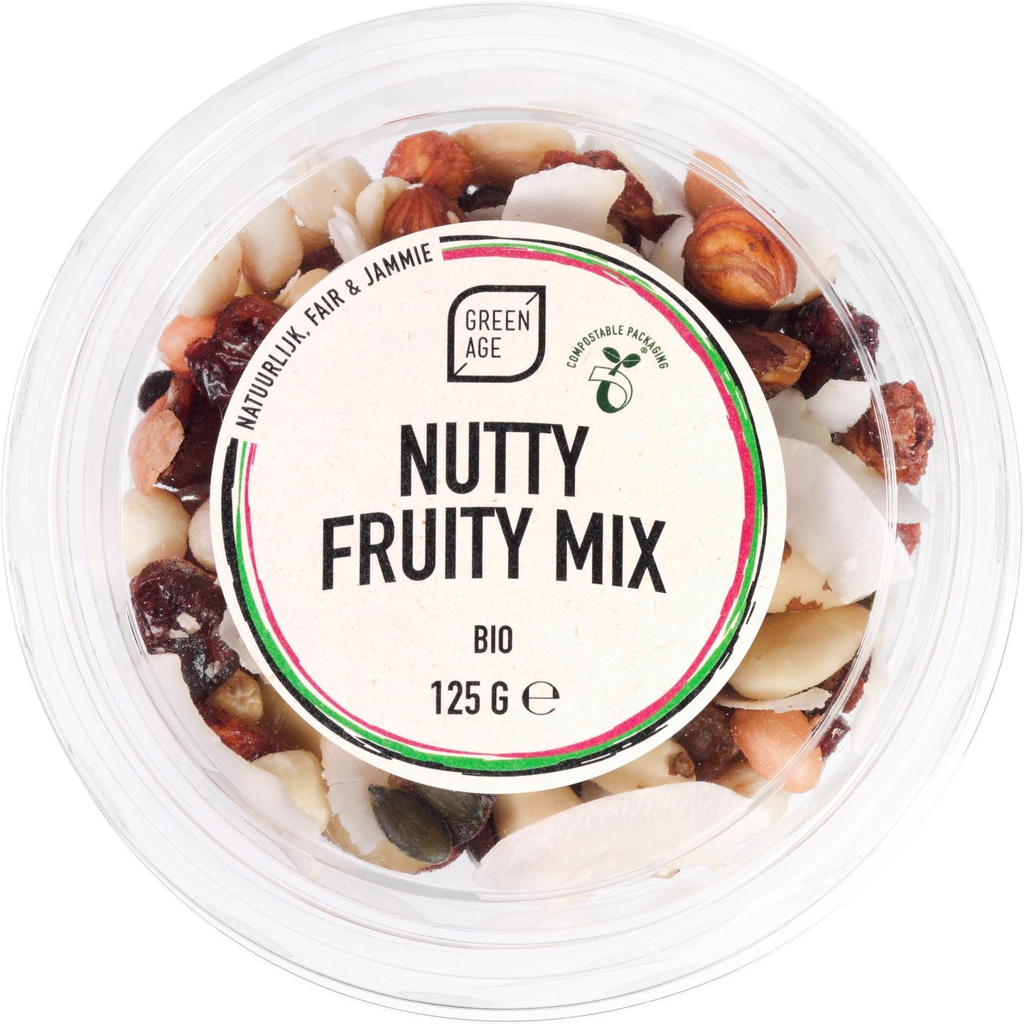 Biologische GreenAge Nutty fruity mix 125 gr