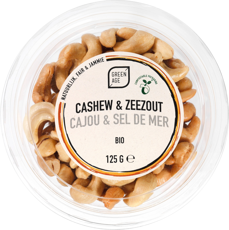 Biologische GreenAge Cashewnoten gezouten 125 gr