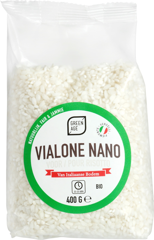 Biologische GreenAge Risottorijst Vialone nano 400 gr