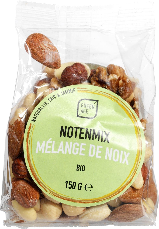 Biologische GreenAge Notenmix ongeroosterd 150 gr