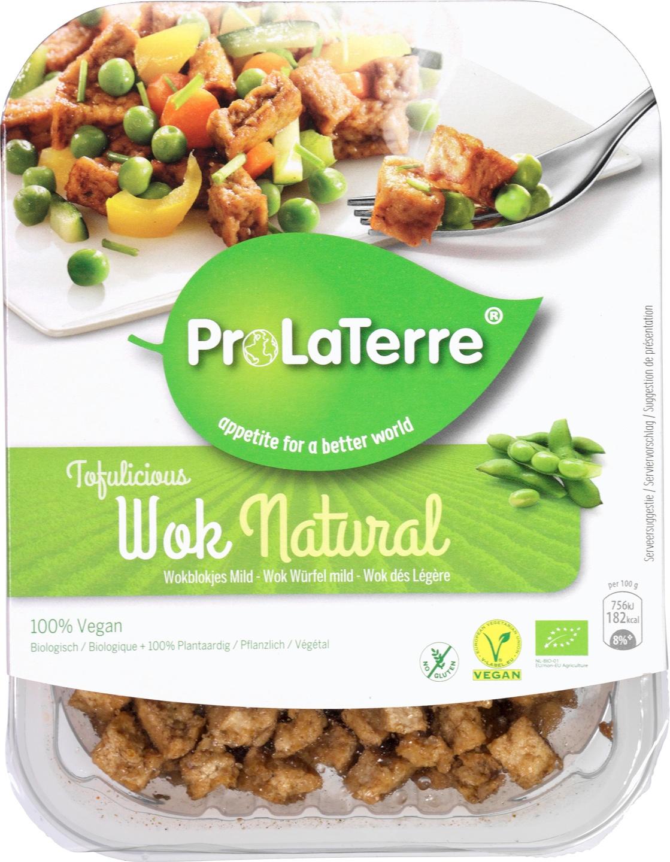 Biologische ProLaTerre Tofu wokblokjes natural 180 gr