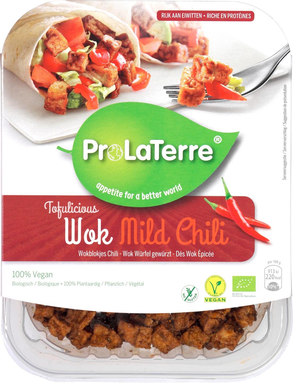 Biologische ProLaTerre Tofu wokblokjes mild chili 180 gr