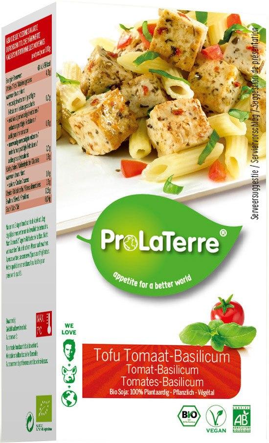 Biologische ProLaTerre Tofu tomaat-basilicum 250 gr