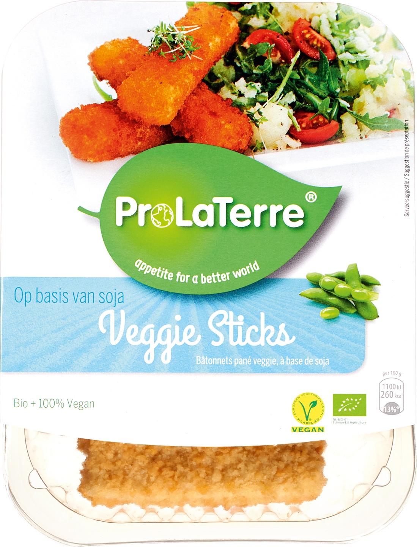 Biologische ProLaTerre Veggie vissticks 180 gr