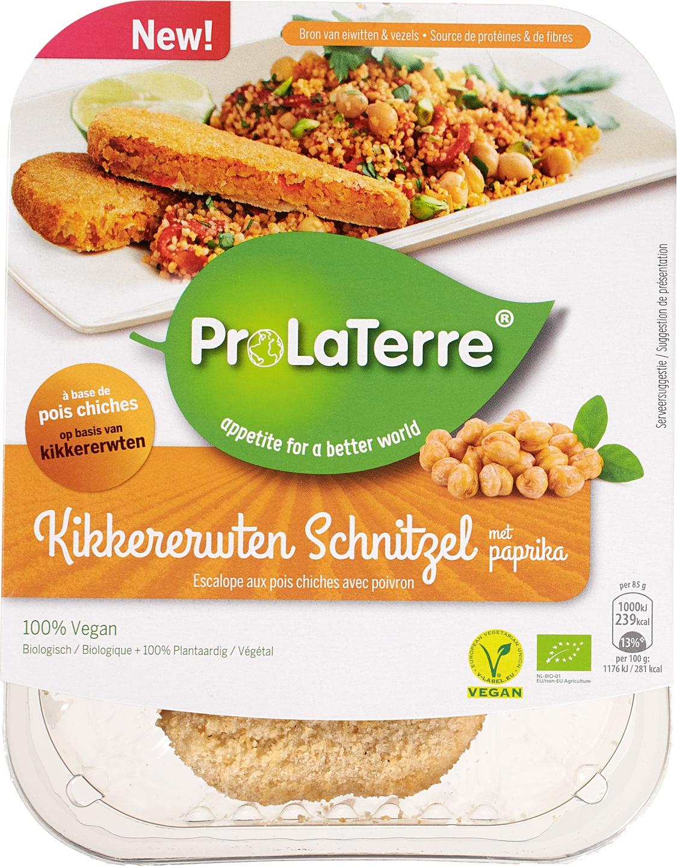 Biologische ProLaTerre Kikkererwten schnitzel 170 gr