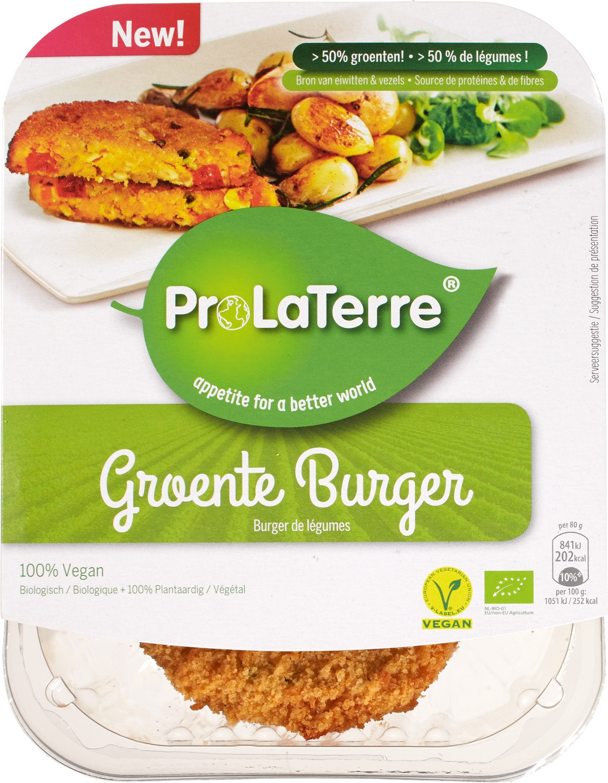 Biologische ProLaTerre Groente burger 160 gr