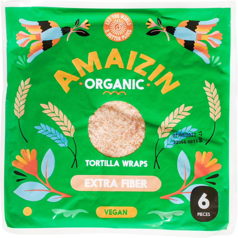 Biologische Amaizin Tortilla wraps extra vezel 6 st