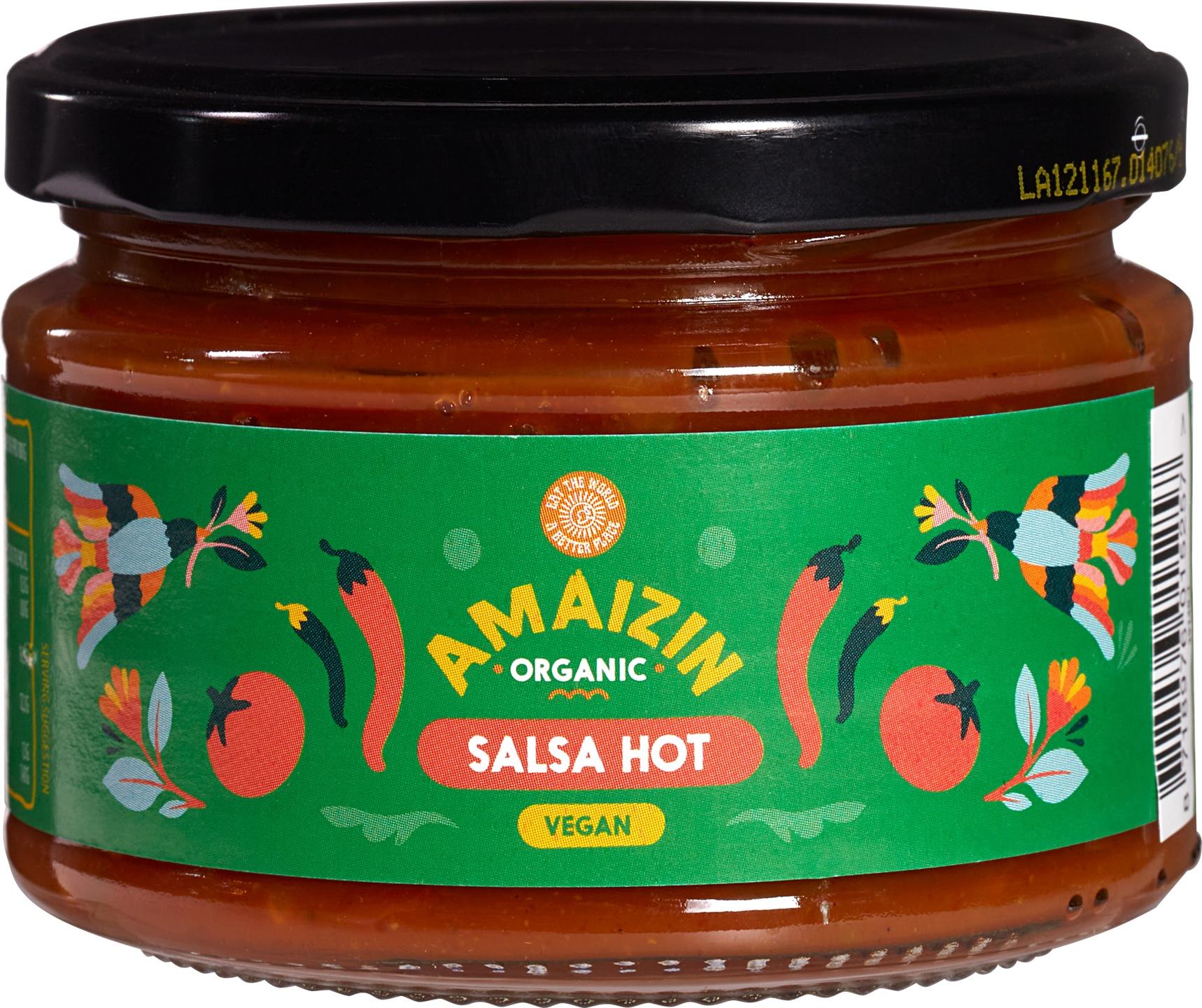 Biologische Amaizin Hot salsa chip dip 260 gr
