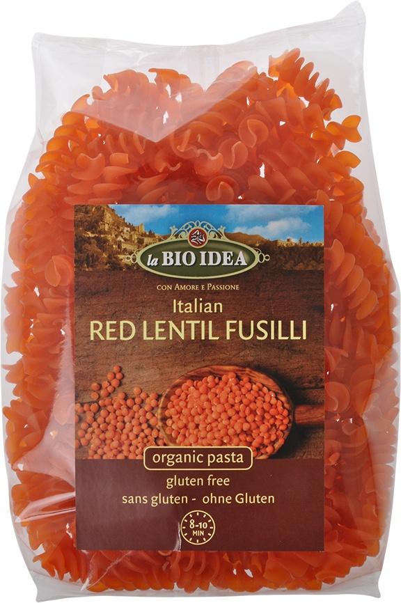 Biologische La Bio Idea Rode linzen fusilli 250 gr