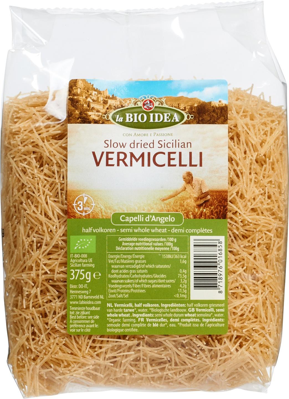 Biologische La Bio Idea Vermicelli halfvolkoren 375 gr