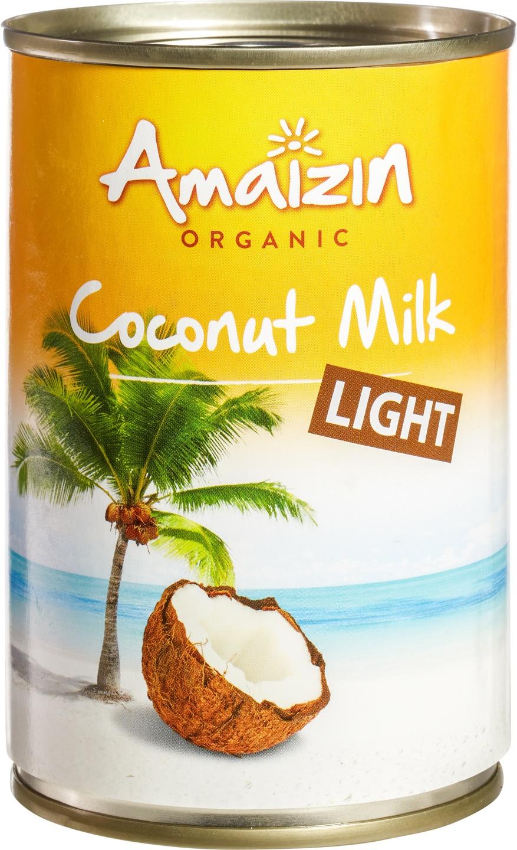 Biologische Amaizin Kokosmelk light 400 ml