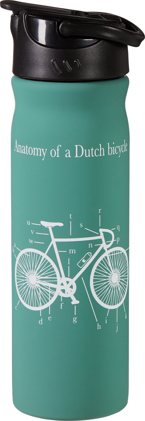 Biologische Retulp RVS drinkfles groen 500 ml