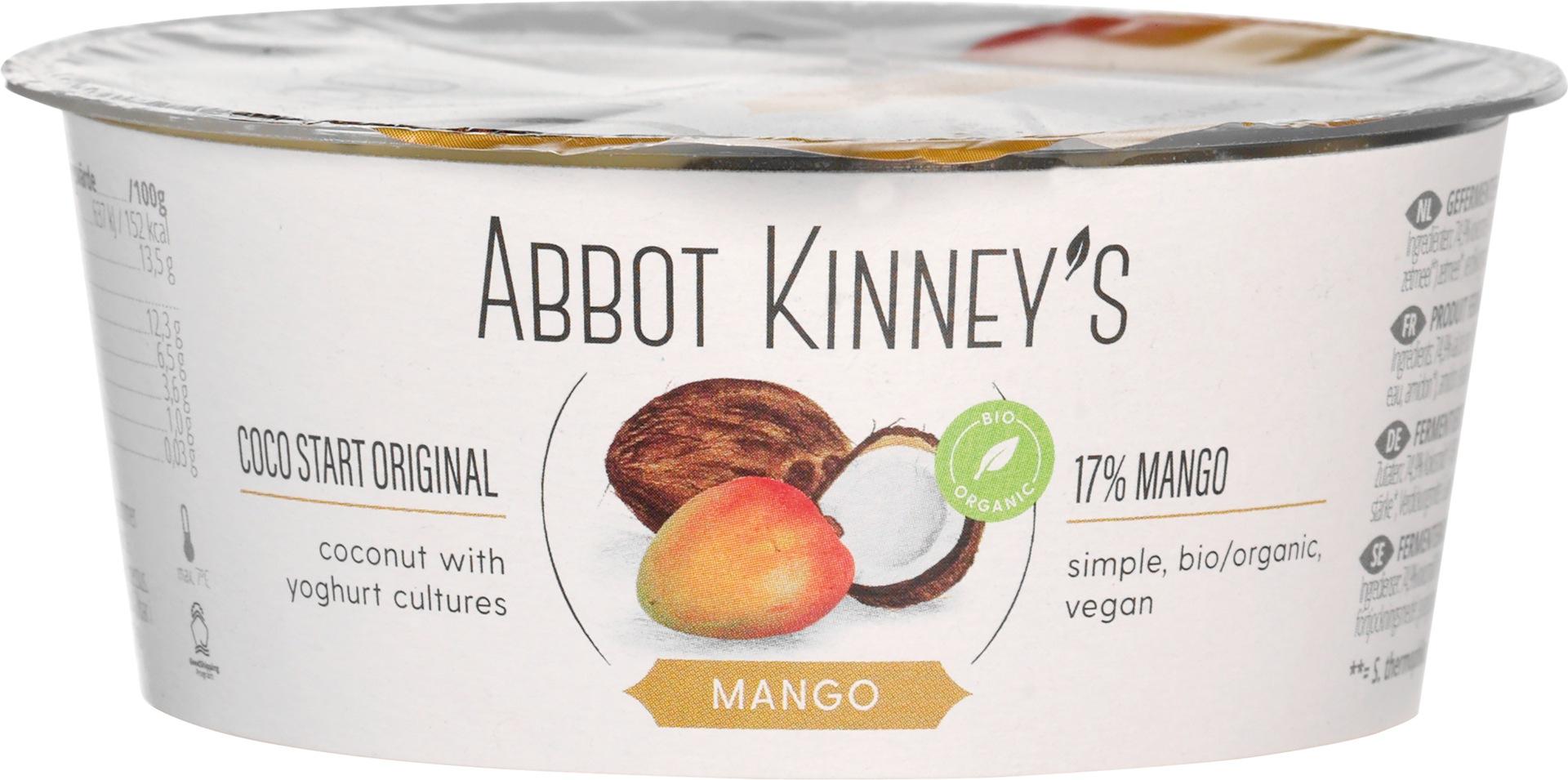 Biologische Abbot Kinney's Coco Start mango 125 ml