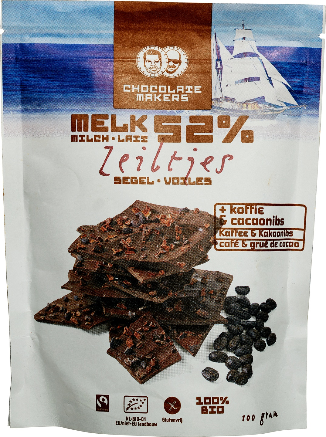 -29% SALE | Biologische Chocolatemakers Chocozeiltjes melk 100 gr