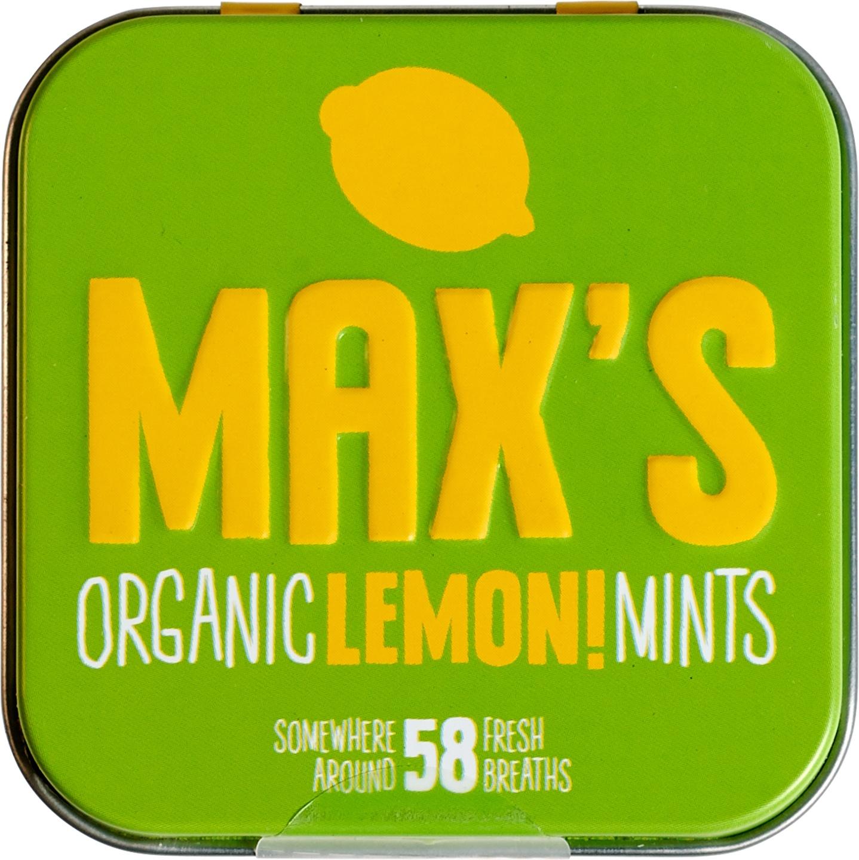 Biologische Max's mints Lemon mints 35 gr