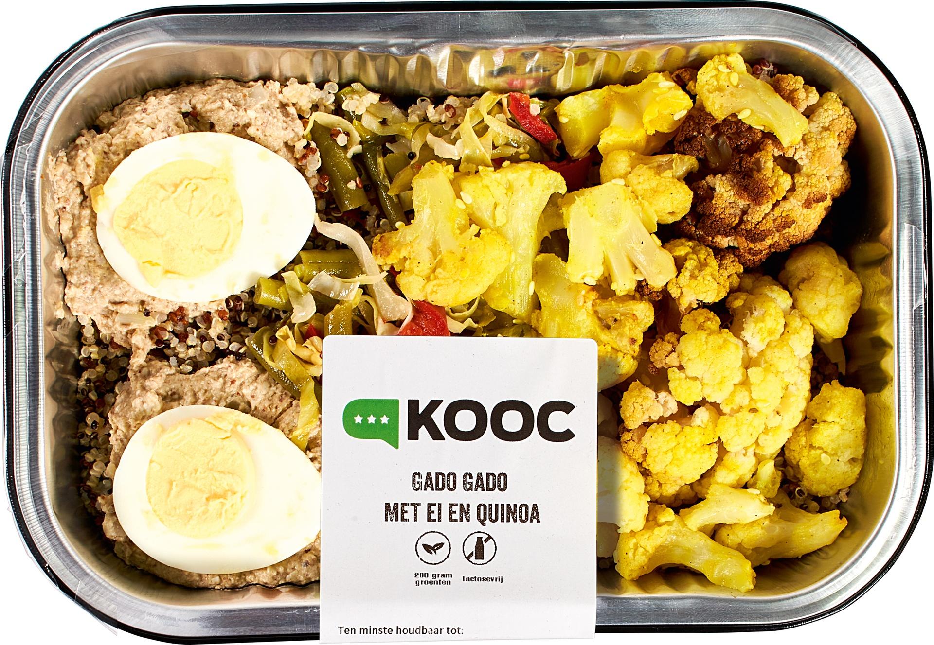Biologische KOOC Gado gado met ei en quinoa 500 gr