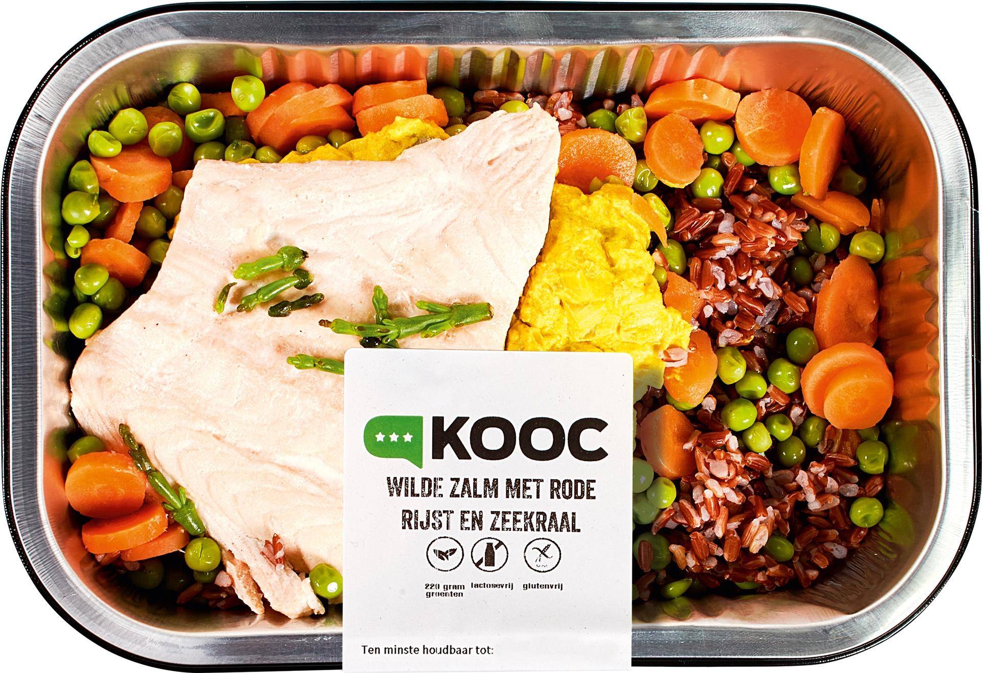 Biologische KOOC Wilde zalm met zwarte rijst en zeekraal 475 gr