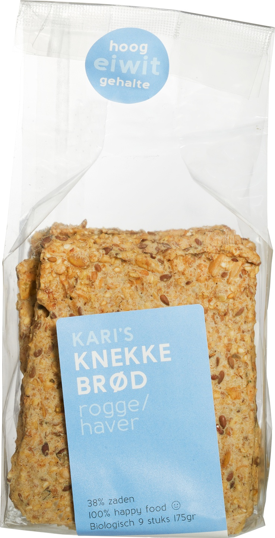 Biologische Kari's Crackers Knekkebrød rogge 200 gr