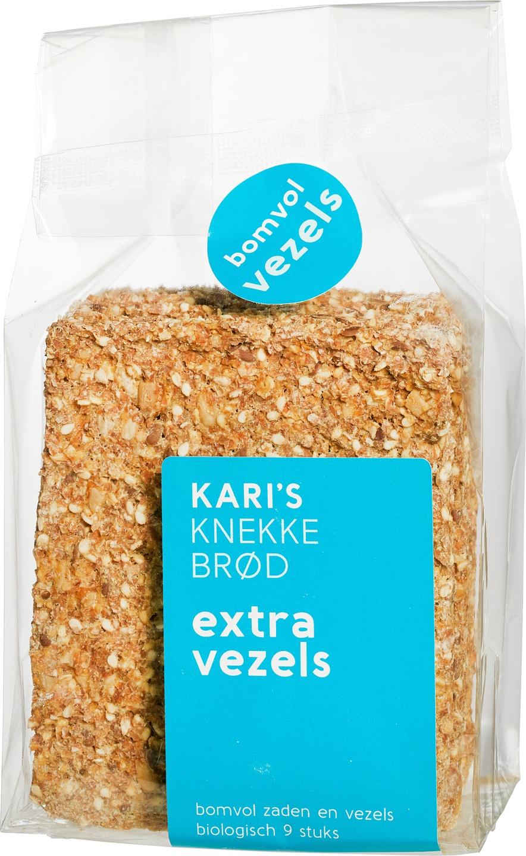 Biologische Kari's Crackers Knekkebrød extra vezels 200 gr