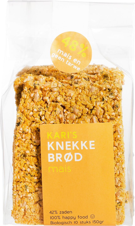 Biologische Kari's Crackers Knekkebrød mais 200 gr