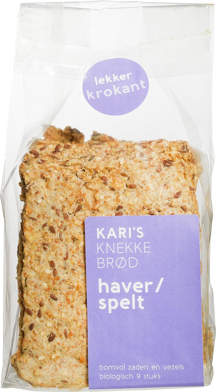 Biologische Kari's Crackers Knekkebrød haver spelt 200 gr