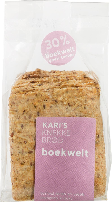 Biologische Kari's Crackers Knekkebrød boekweit 180 gr