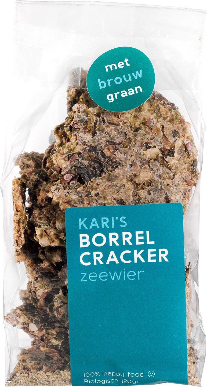 Biologische Kari's Crackers Borrelcrackers zeewier 120 gr
