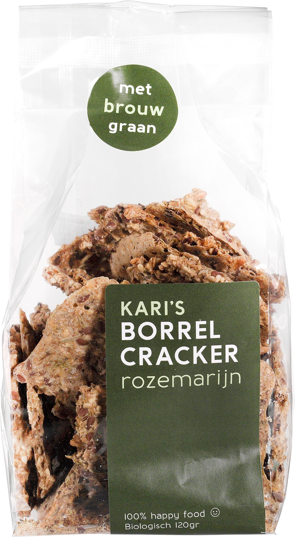Biologische Kari's Crackers Borrelcrackers rozemarijn 120 gr