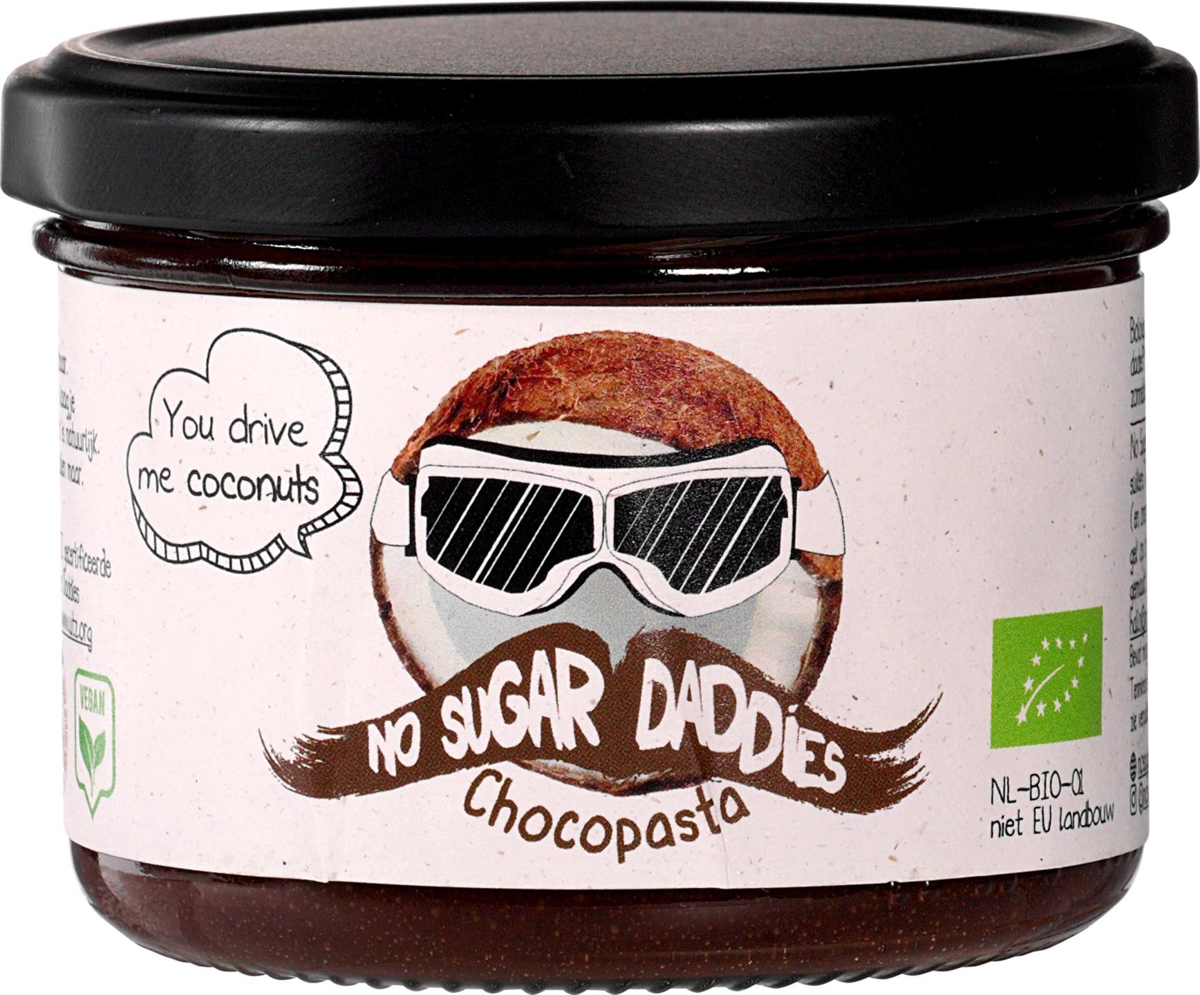 Biologische No Sugar Daddies Chocopasta kokos 200 gr