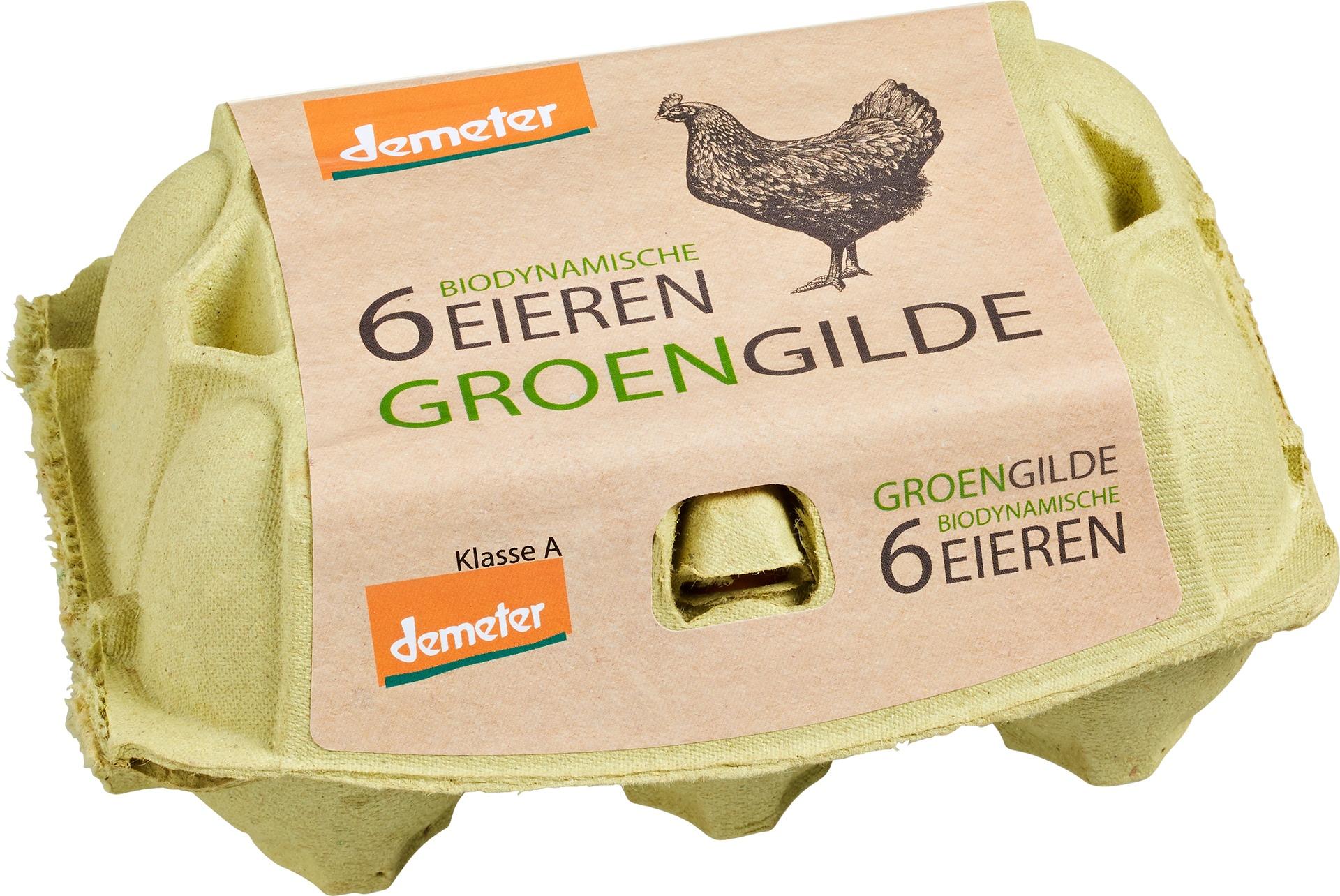 Biologische Groengilde Eieren 6 st