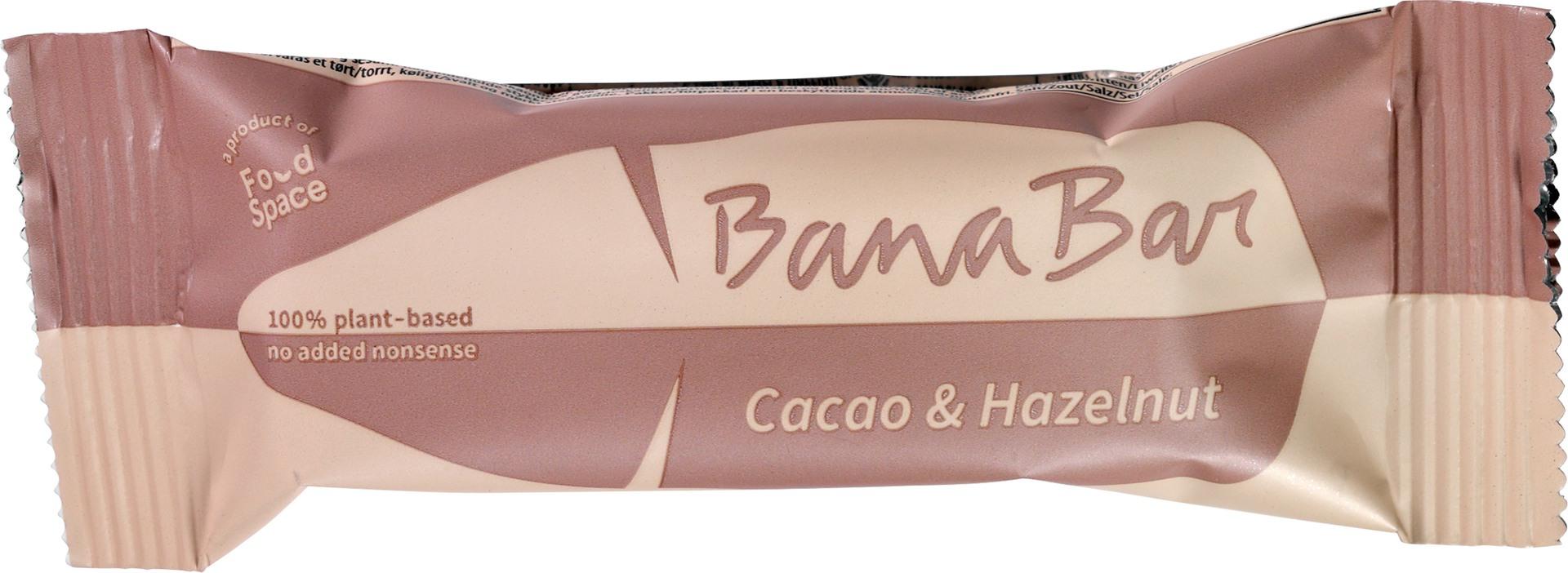 Biologische Banabar Cacao & Hazelnut banana bar 40 g
