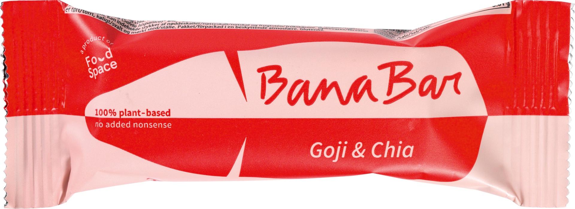 Biologische Banabar Goji & Chia banana bar 40 g