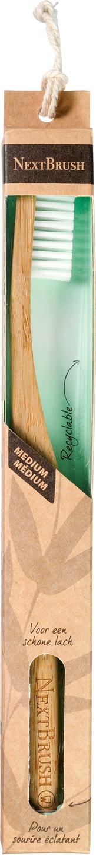 Biologische NextBrush Tandenborstel bamboe medium 1 st