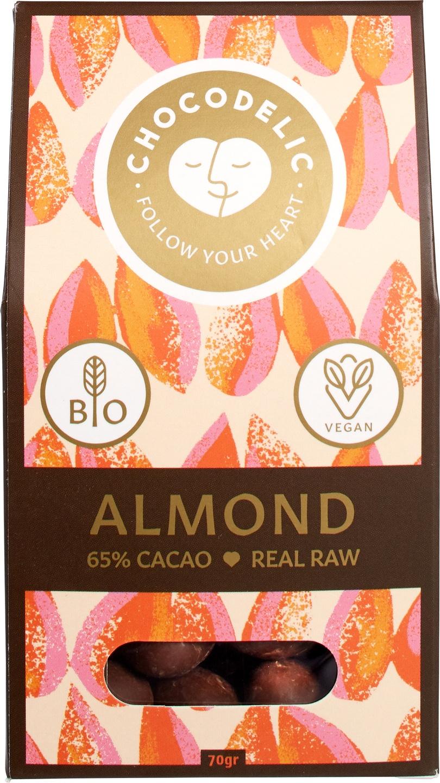Biologische Chocodelic Chocolade amandel 70 gr