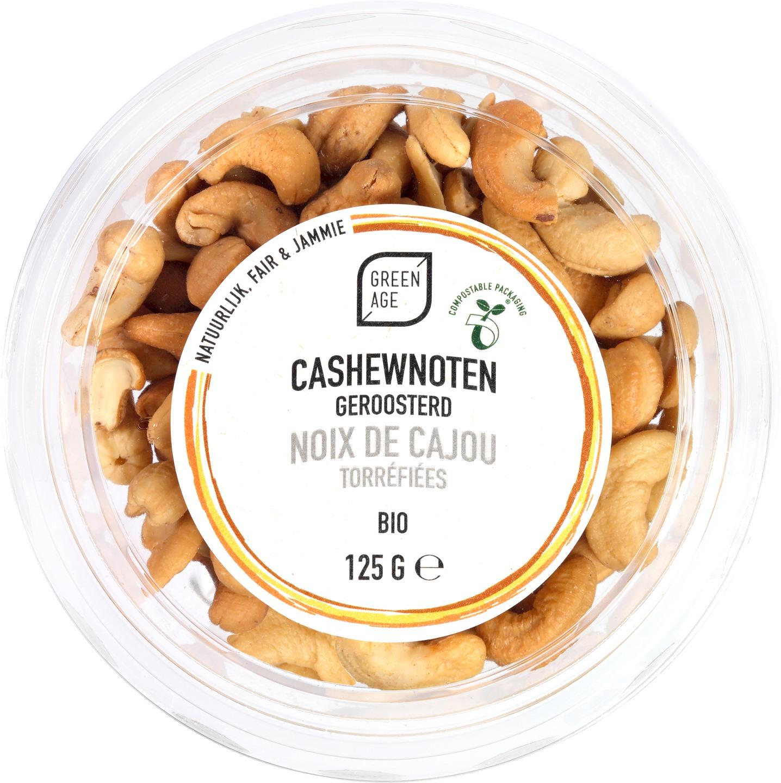 Biologische GreenAge Cashewnoten geroosterd 125 gr