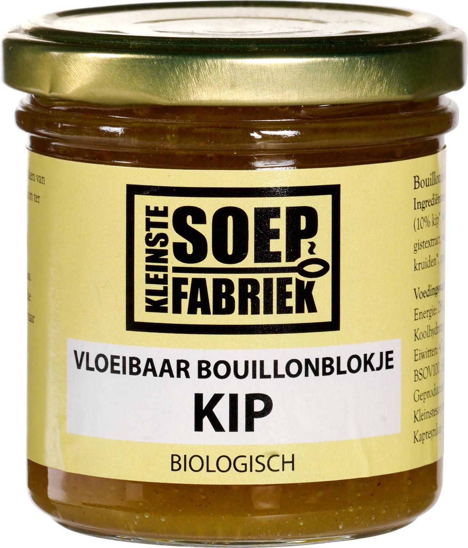 Biologische KleinsteSoepFabriek Vloeibaar bouillonblokje kip 150 ml