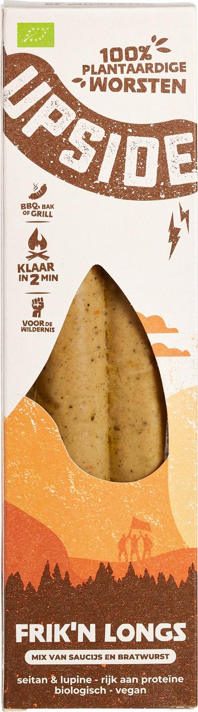 Biologische Upside Plantbased Worst Frik'n Longs 200 gr