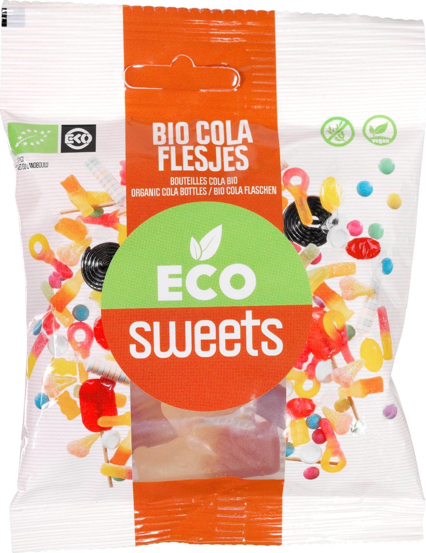 Biologische Eco Sweets Cola flesjes 75 gr