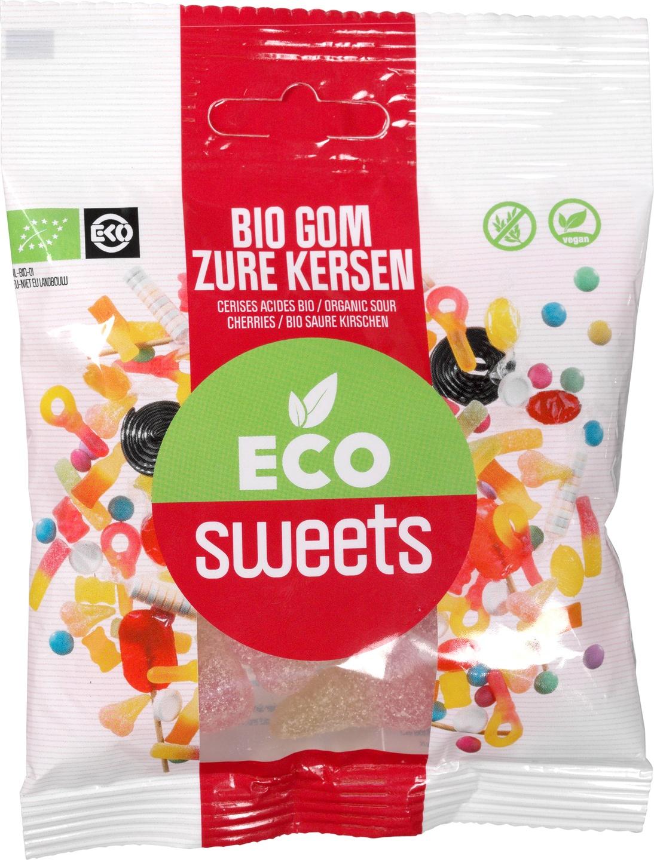 Biologische Eco Sweets Zure kersen 75 gr