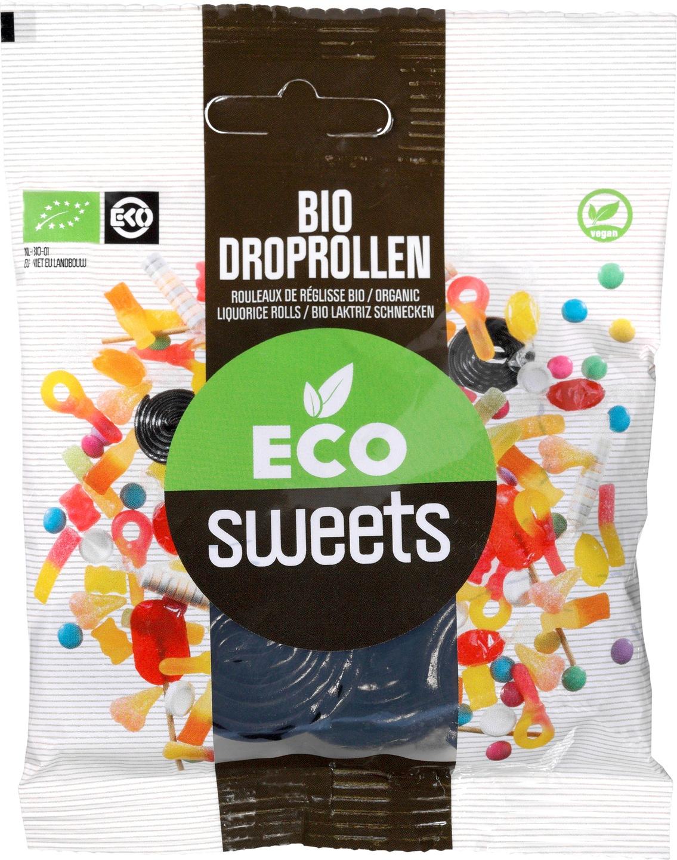 Biologische Eco Sweets Droprollen zoet 75 gr