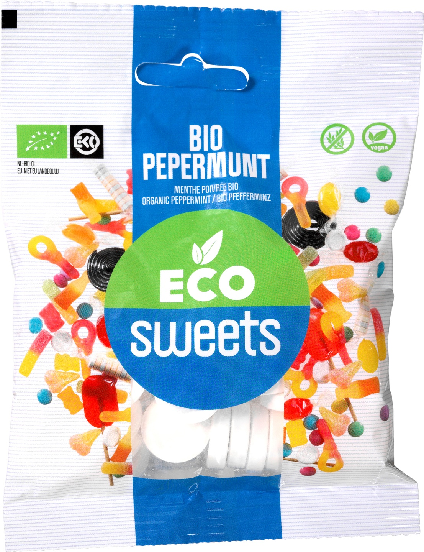 Biologische Eco Sweets Pepermunt 75 gr