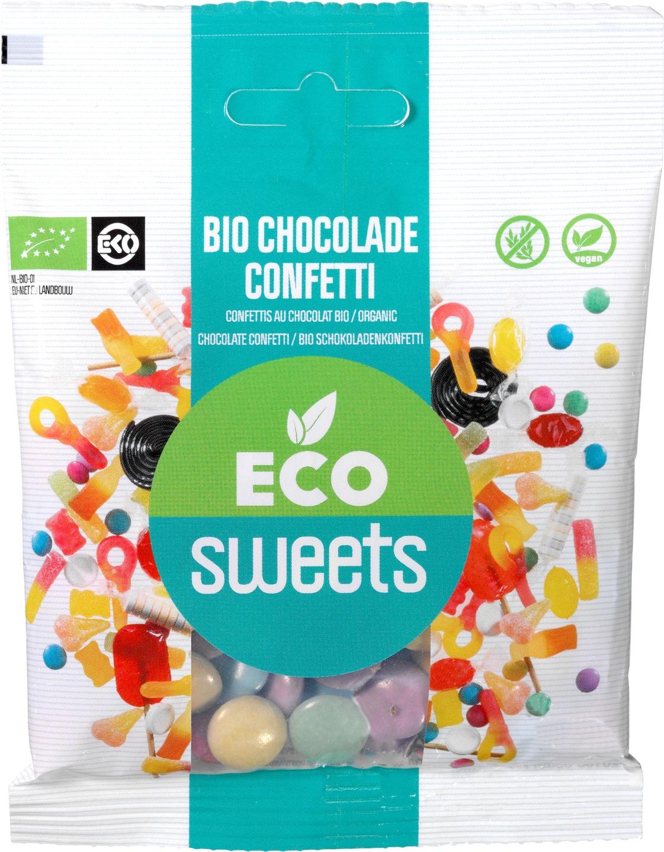 Biologische Eco Sweets Chocolade confetti puur vegan 60 gr