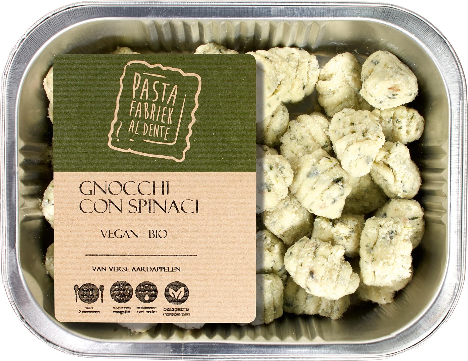 Biologische De Pastafabriek Verse gnocchi spinazie 250 gr