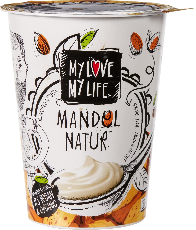 Biologische MyLove-MyLife Plantaardige variatie op yoghurt amandel 400 ml