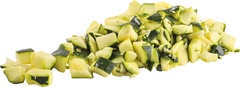 Courgette gesneden blok 20mm 1000g