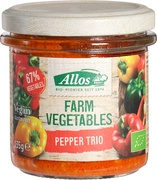 Farm Vegetables peper-trio spread